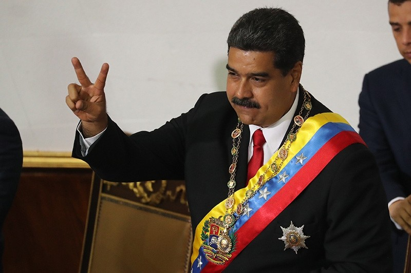 The president of Venezuela, Nicolas Maduro, takes the oath before the National Constituent Assembly (ANC), in Caracas, Venezuela, May 24, 2018. (AP Photo)