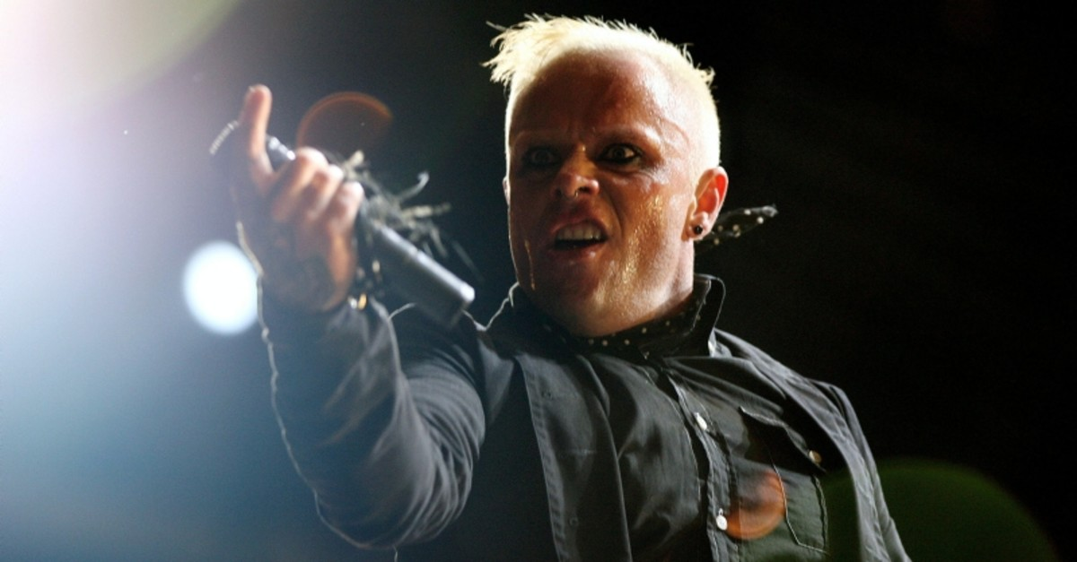 British singer Keith Flint of techno group ,The Prodigy, performs during the first day of the Isle of Wight Festival at Seaclose Park in Newport on the Isle of Wight June 9, 2006. (Reuters Photo)