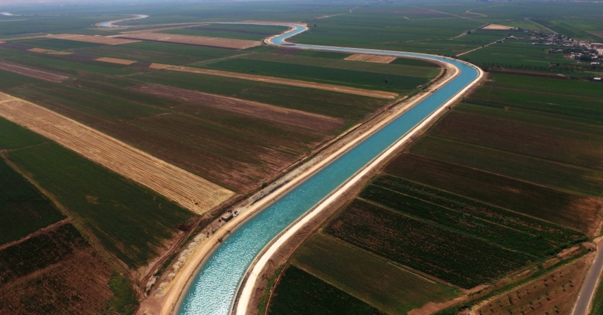 The Harran Plain enjoys benefits of an irrigation network courtesy of two tunnels linking it to the Atatu00fcrk Dam.