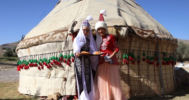 The tent erected by Kyrgyz Turks introduce  tourists to their traditional lifestyle.