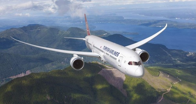 Aerial view of a Turkish Airlines Boeing 787-9 Dreamliner. (File Photo)