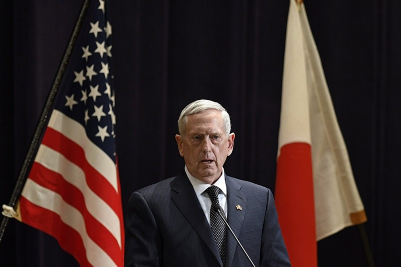 US Secretary of Defense James Mattis speaks during a joint press conference with Japanese Defense Minister Tomomi Inada (not pictured) at the defense ministry in Tokyo, Japan, 04 February 2017. (EPA Photo)
