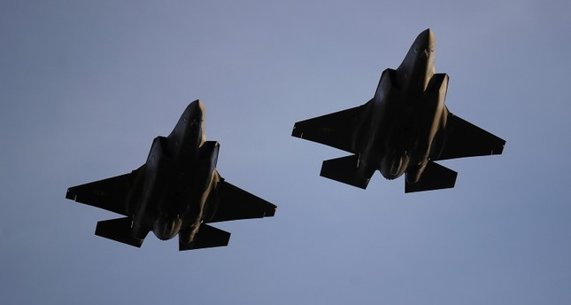 In this Nov. 1, 2018, file photo U.S. Air Force F-35 A-fighter jets from 31st Test Evaluation Squadron at Edwards AFB fly over Levi's Stadium before an NFL game between the San Francisco 49ers and the Oakland Raiders in Santa Clara, Calif. (AP Photo)