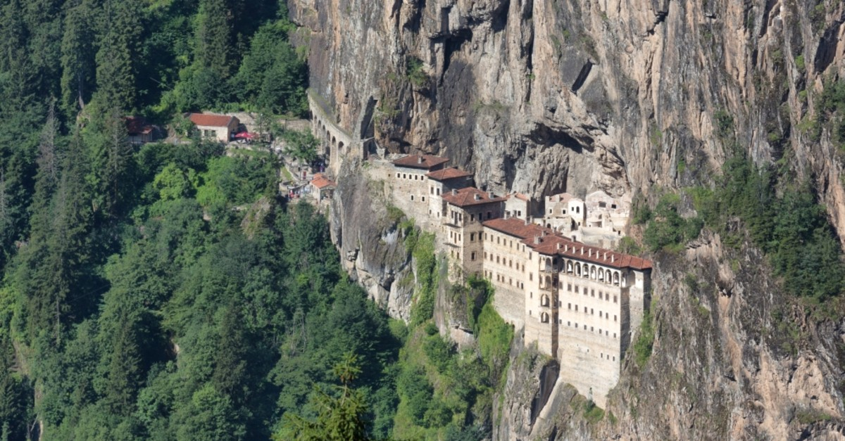 Built in the 4th century, Su00fcmela Monastery is carved into the Mela Mountain in Mau00e7ka, Trabzon.