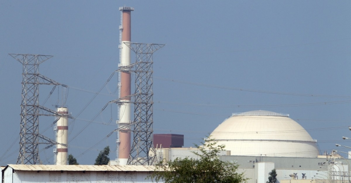 This file photo taken on Aug. 20, 2010 shows the reactor building at the Bushehr nuclear power plant in southern Iran, 1200 km south of Tehran. (AFP Photo)