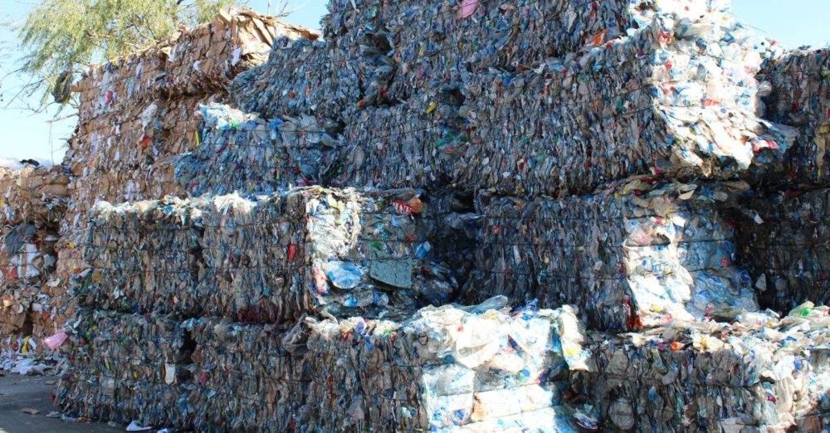 Waste material is collected by the municipalities to be recycled as a part of zero waste regulations. (AA Photo)