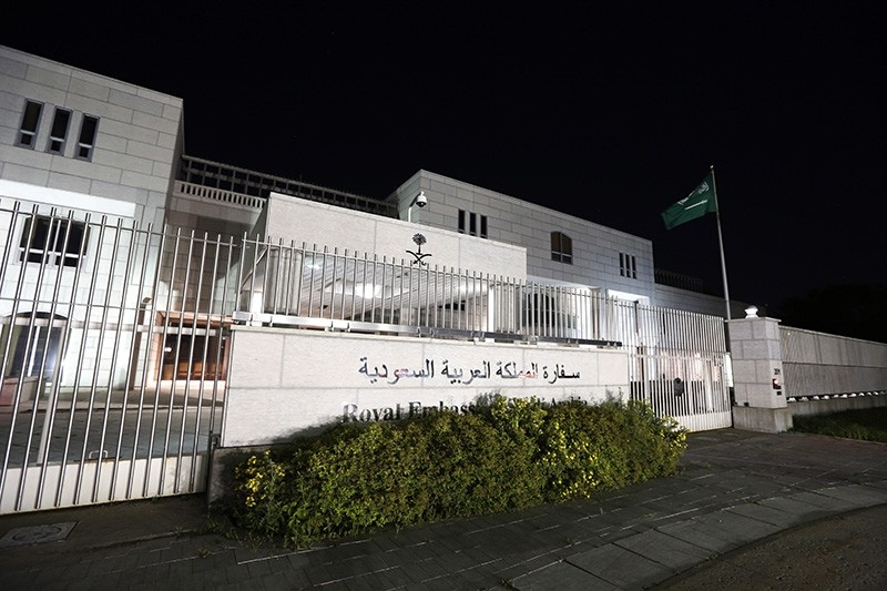 The Saudi Arabian Embassy is shown in Ottawa, Canada, on Sunday, Aug. 5, 2018. (AP Photo)