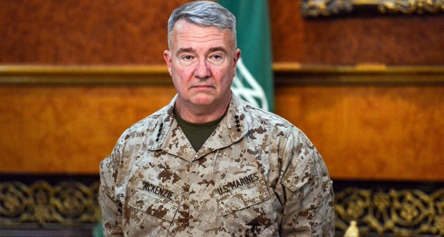 U.S. Marine Corps General Kenneth F. McKenzie Jr., Commander of the US Central Command (CENTCOM), poses for a picture during his visit to a military base in al-Kharj in central Saudi Arabia on July 18, 2019. (AFP Photo)