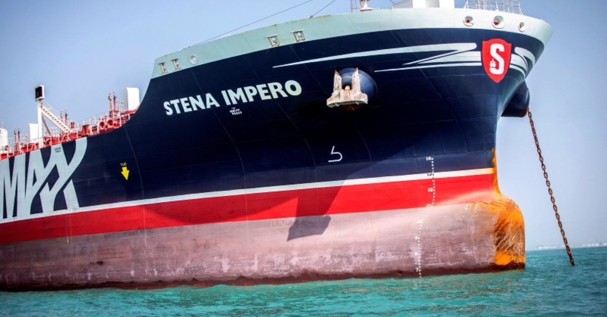 Stena Impero, a British-flagged vessel owned by Stena Bulk, is seen at undisclosed place off the coast of Bandar Abbas, Iran Aug. 22, 2019. (Reuters Photo)