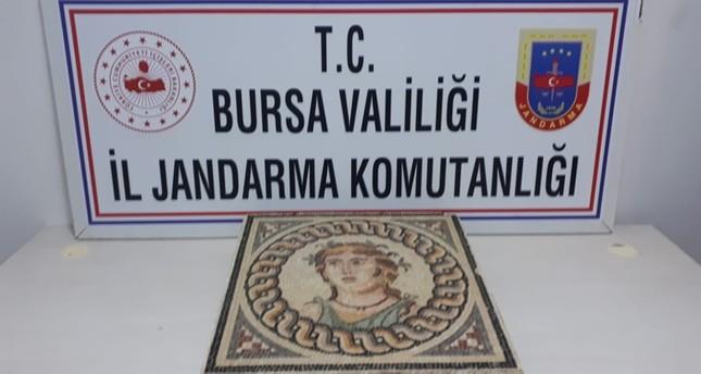 2,000-year-old mosaic seized in northwest Turkey's Bursa