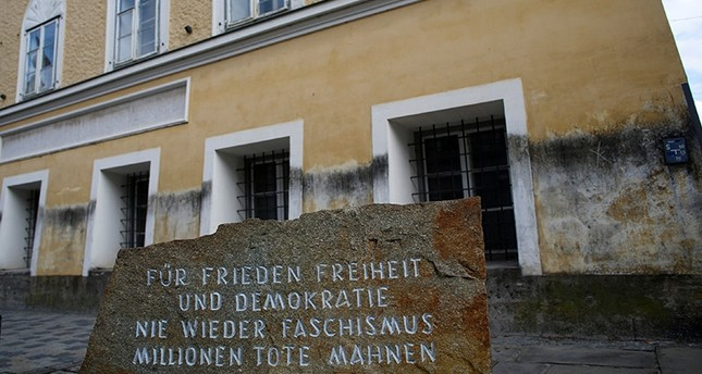 A stone with the inscription 'For peace, freedom and democracy, never again fascism, millions of dead are a warning', is pictured outside the house in which Adolf Hitler was born, in Braunau am Inn, Austria October 22, 2016. (Reuters Photo)