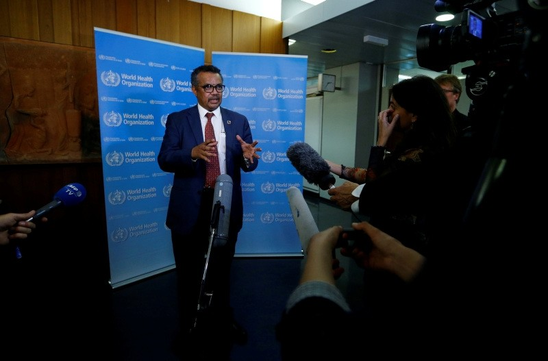 Director-General of the WHO Tedros Adhanom Ghebreyesus briefs the media on the Ebola outbreak at their headquarters in Geneva, Switzerland, May 14, 2018. (REUTERS Photo)