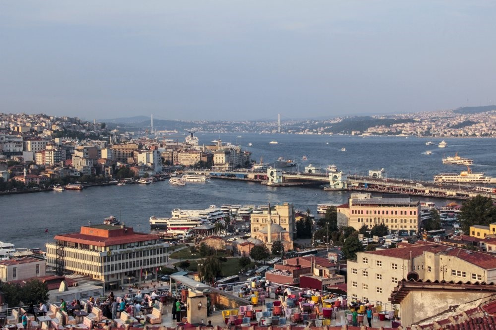 An aerial view of Istanbul.