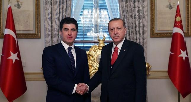 أردوغان يبحث العملية العسكرية في سنجار مع نجيرفان برزاني