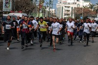 Gaza marathon organized to support Palestinians in Israeli prisons