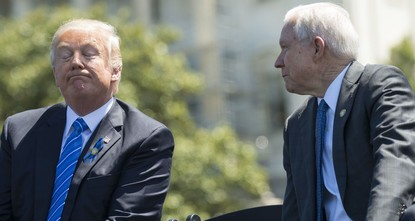 pUS Attorney General Jeff Sessions found himself in an increasingly untenable position Tuesday, as President Donald Trump once again skewered him on Twitter, calling his onetime ally VERY...