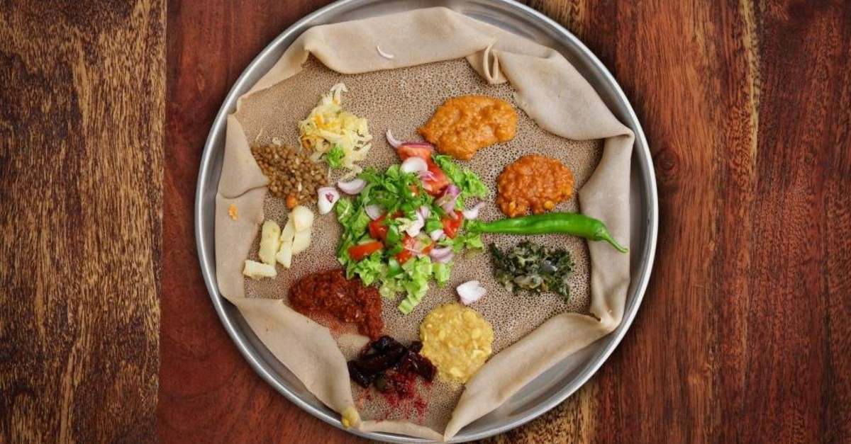 Injera, the national dish of Ethiopia, is a sourdough flatbread made from teff flour. (iStock Photo)