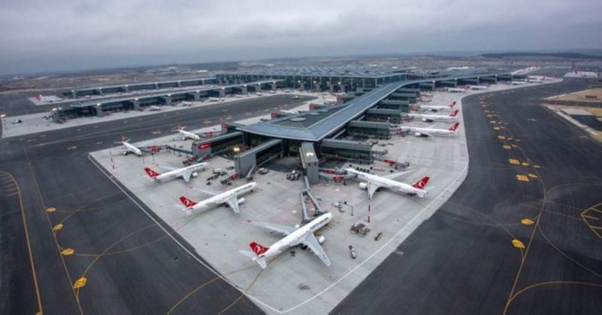 Turkish Airline planes at Istanbul Airport, April 8, 2019.