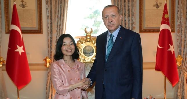 أردوغان يستقبل الأميرة اليابانية أكيكو ميكاسا في إسطنبول