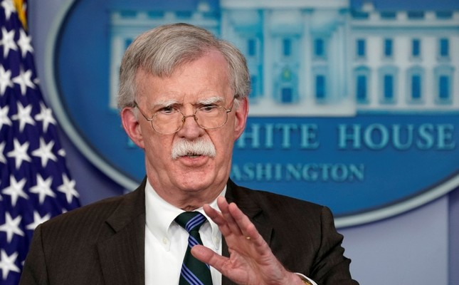 U.S. President Donald Trump's National Security Adviser John Bolton speaks during a press briefing at the White House in Washington, U.S., Nov. 27, 2018. (Reuters Photo)