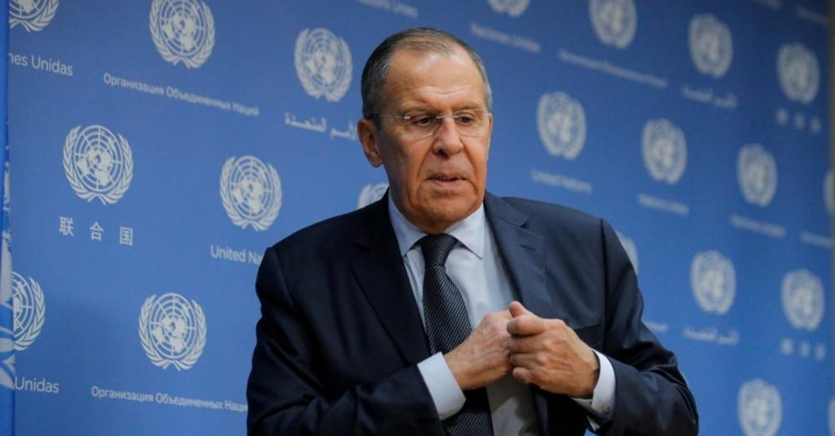 Russian Foreign Minister Sergey Lavrov gestures at a news conference on the sidelines of the 74th session of the U.N. General Assembly at the U.N. headquarters, New York, U.S., Sept. 27, 2019. (REUTERS Photo)