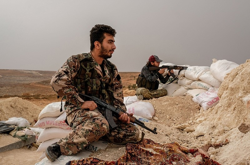 Undated file photo shows Free Syrian Army soldiers in Idlib, Syria. (Sabah File Photo)