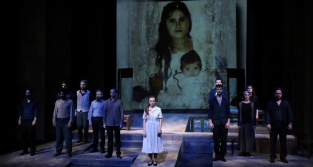 "Scene from Diyarbakır State Theater's ""Gül'e Ağıt"" (""Lament to Rose"")."