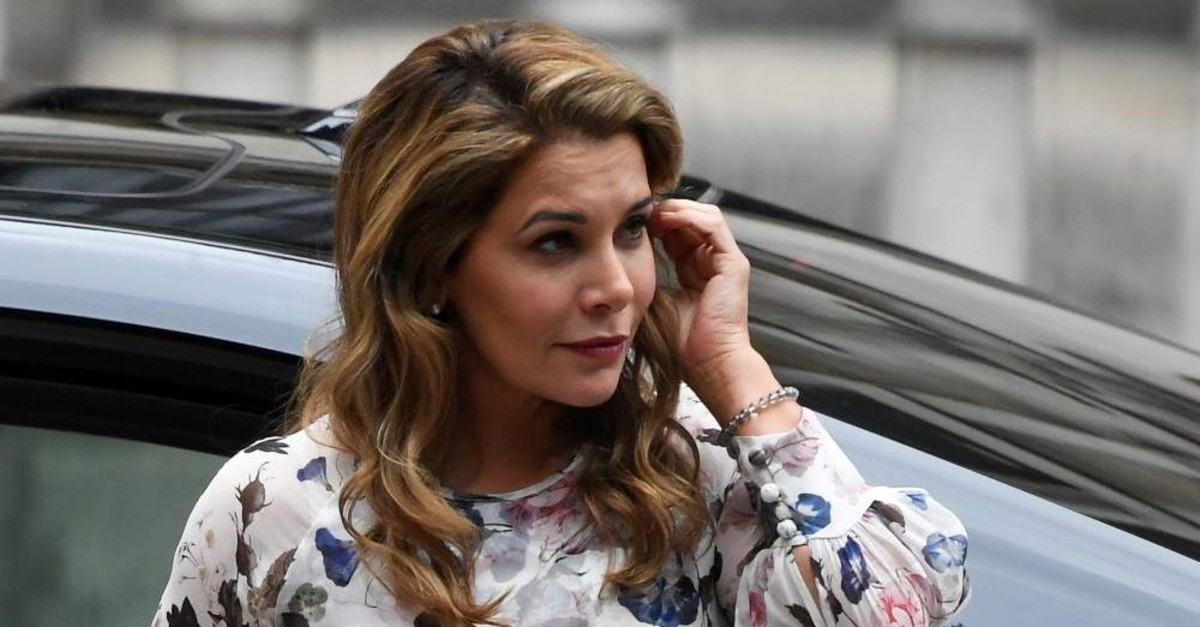 Princess Haya bint Al Hussein, the wife of Dubai's Sheikh Mohammed bin Rashid Al Maktoum, arrives at Royal Courts of Justice in London, Britain July 31, 2019. (REUTERS Photo)
