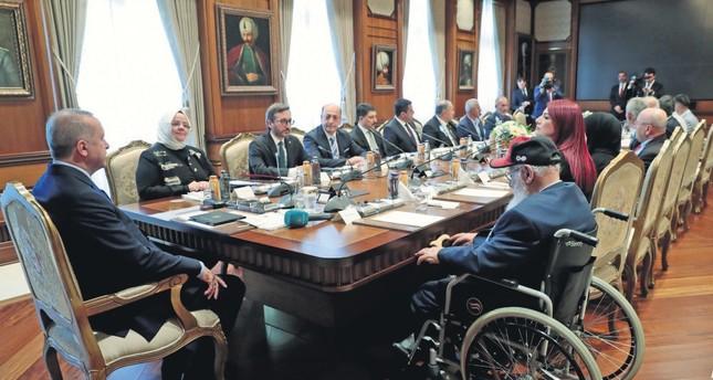 President Erdoğan received the veterans at the Presidential Complex, Sept. 19, 2019.