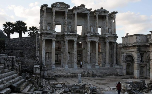Library of Celsus in the ancient city of Ephesus. AA Photo