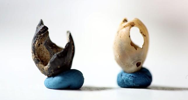 Artifacts found in Direkli Cave in Kahramanmaraş province, Turkey. (AA Photo)