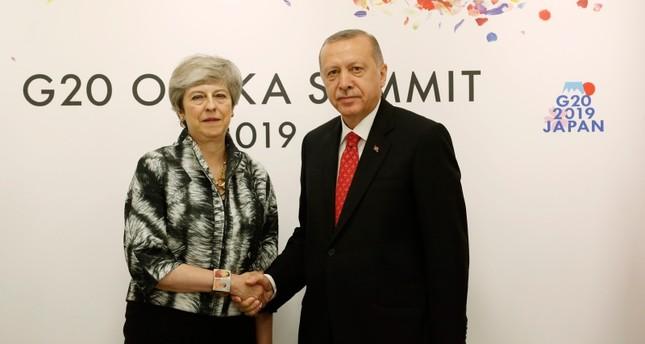 أردوغان يجتمع بتيريزا ماي على هامش قمة مجموعة العشرين في اليابان