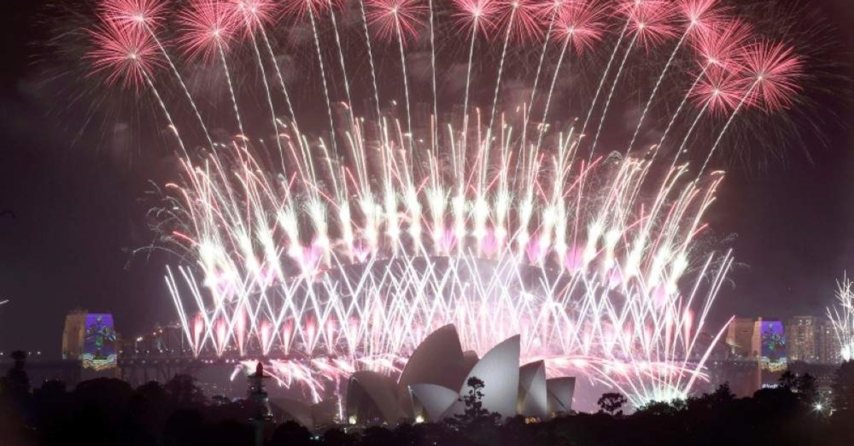 In this Jan. 1, 2017, file photo, fireworks explode over the Sydney Opera House and Harbour Bridge as New Year's celebrations are underway in Sydney. (AP Photo)