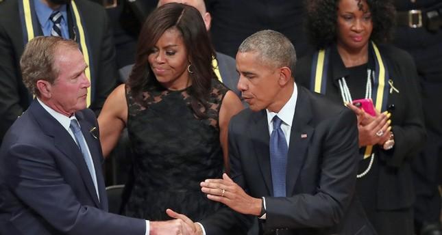 Gedenkfeier: Obama und W. Bush beschwören Einheit