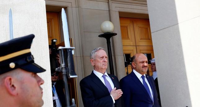 U.S. Defense Secretary James Mattis stands with Turkey's Defense Minister Fikri Isik at the Pentagon in Arlington, VA, U.S. April 13, 2017. REUTERS Photo