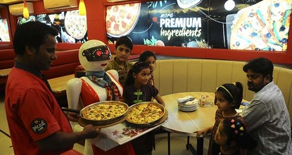 pAlthough robotics is in an early stage in a developing country like Pakistan, there is a restaurant where robots walk and serve the customers instead of human waiters./p