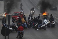 Roads blocked as Lebanon protests continue unabated