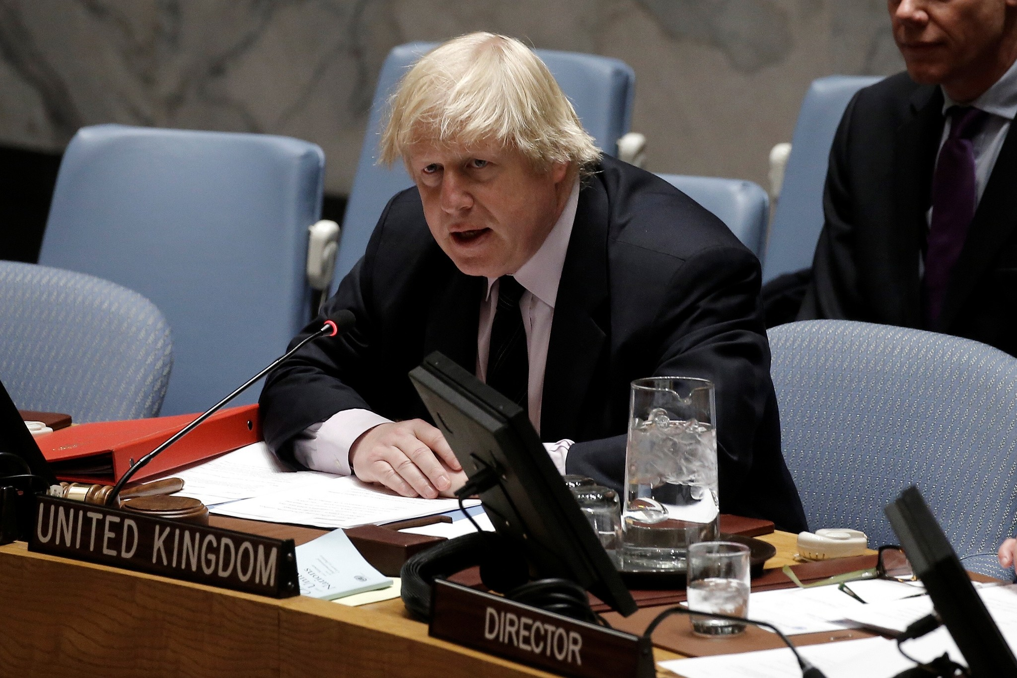 British Foreign Secretary Boris Johnson speaks at U.N. headquarters in New York, U.S., March 23, 2017. (Reuters Photo)