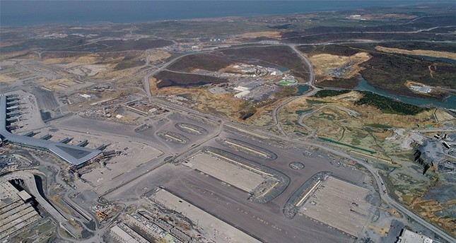 ورشة المطار كما بدت الجمعة من الجو (İHA)