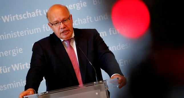 German Economic Affairs and Energy Federal Minister Peter Altmaier addresses the media in Berlin, Germany. (Reuters Photo)