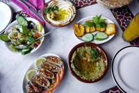 Full of hearty flavors and aromatic spices, Syrian cuisine is a fusion of different cultures and, in Turkey's southeastern Şanlıurfa province, Syrian women will be cooking traditional recipes with...