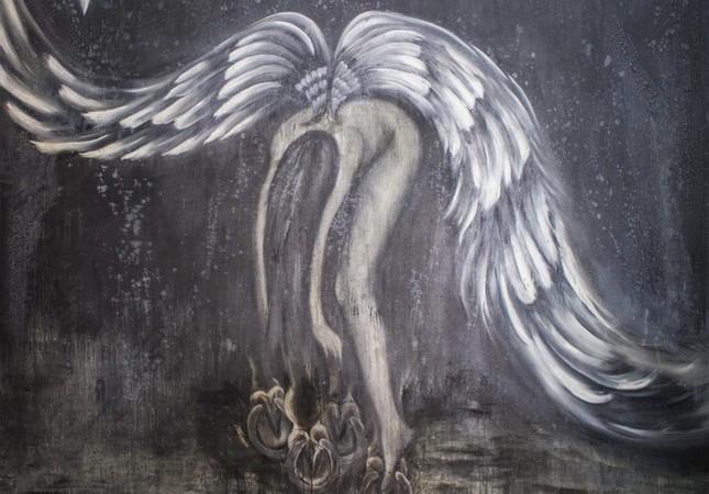 Iranian artist Mehrnoush Esmaeilpour's interpretation of an angel.