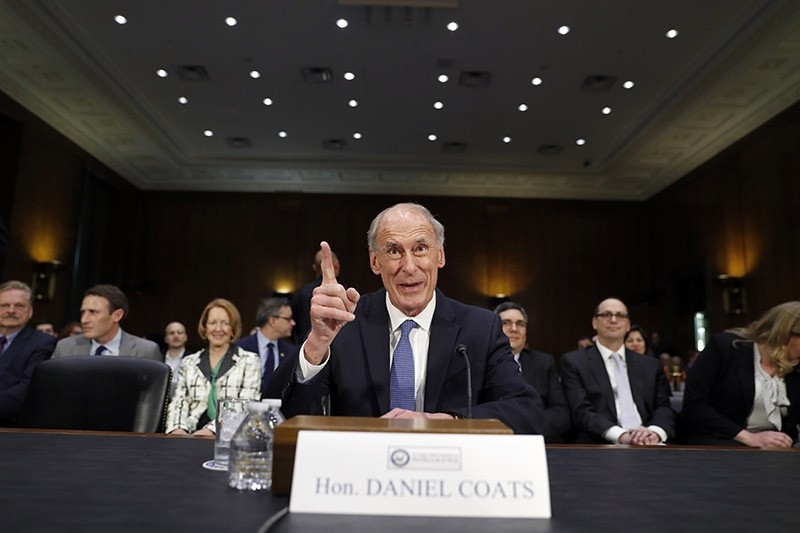 In this Feb. 28, 2017 file photo, Director of National Intelligence-designate Dan Coats speaks on Capitol Hill in Washington prior to testifying at his confirmation hearing before the Senate Intelligence Committee. (AP Photo)