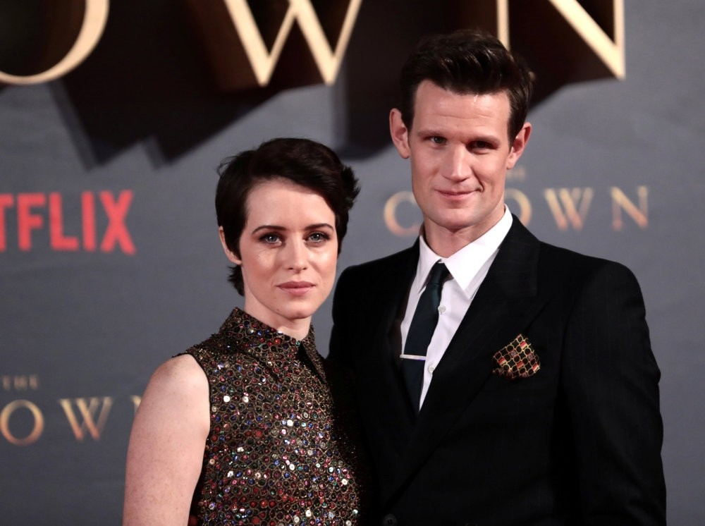 Actors Claire Foy, who plays Queen Elizabeth II, and Matt Smith, who plays Philip Duke of Edinburgh, attend the premiere of u2018The Crown' season 2 in London.