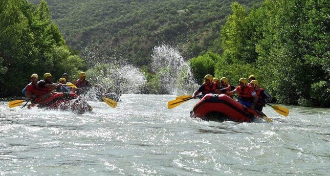Tunceli's Munzur River is a perfect place to go rafting.