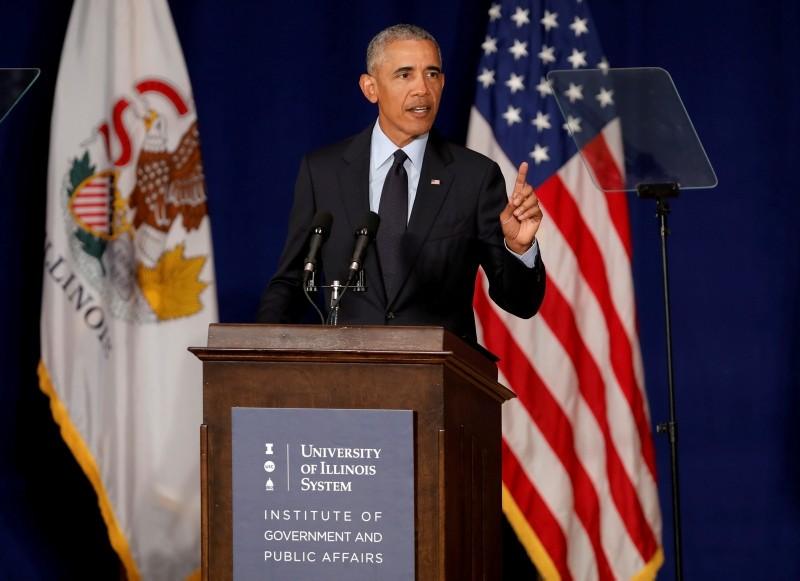 Former U.S. President Barack Obama speaks at the University of Illinois Urbana-Champaign in Urbana, Illinois, U.S. September 7, 2018. (Reuters)
