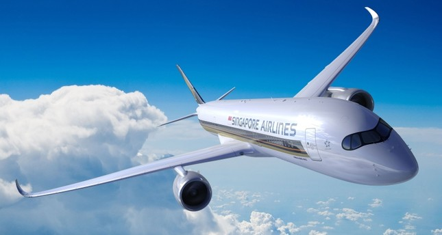 This undated handout picture released by Singapore Airlines on October 9, 2018 shows an A350-900ULR Airbus in flight. (AFP Photo)