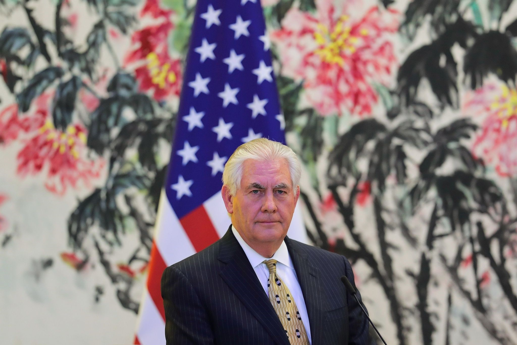 U.S. Secretary of State Rex Tillerson looks on during a joint press conference with China's Foreign Minister Wang Yi. (AFP Photo)