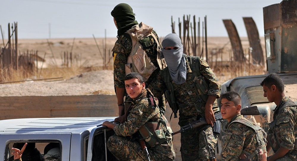 YPG terrorists (AFP Photo)