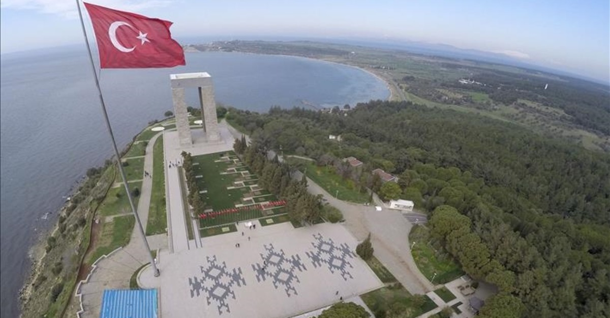 u00c7anakkale Martyrsu2019 Memorial from above,  u00c7anakkale, Turkey.